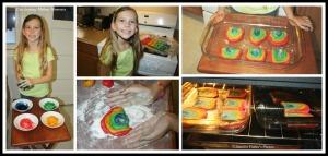 rainbow cookie collage copyright