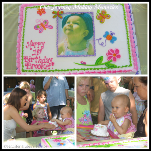 My First Birthday collage copyright