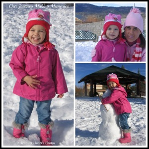 brookes first snow collage copyright